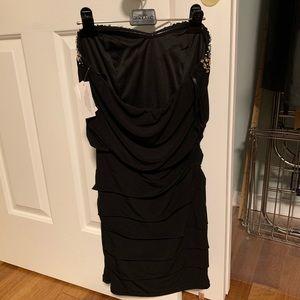 Deb Dresses - Strapless black mini dress
